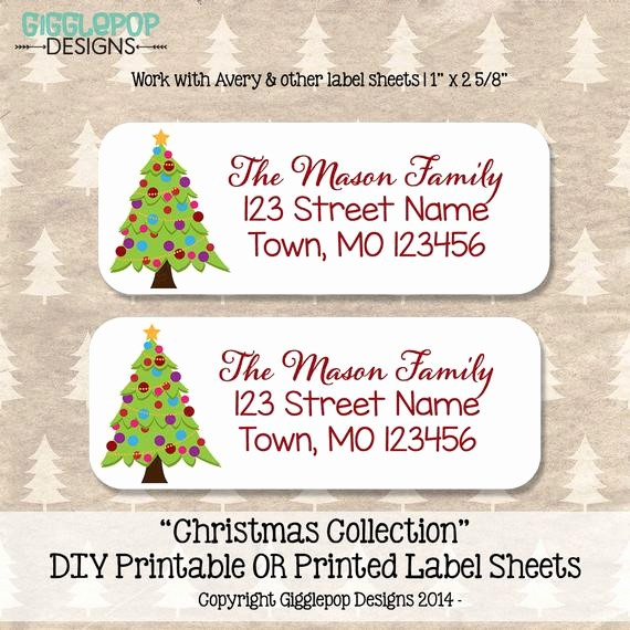 Printable Christmas Return Address Labels Inspirational Christmas Return Address Label