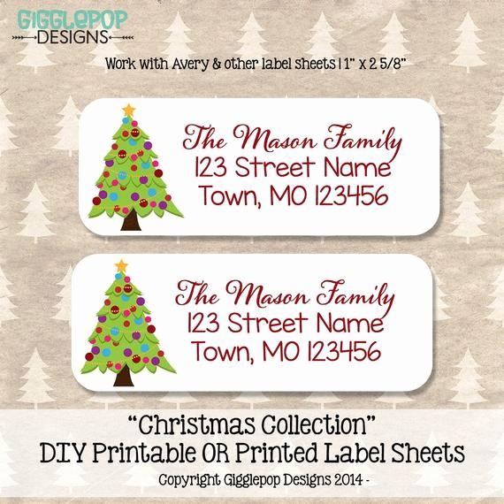 Printable Christmas Return Address Labels Inspirational Christmas Return Address Label