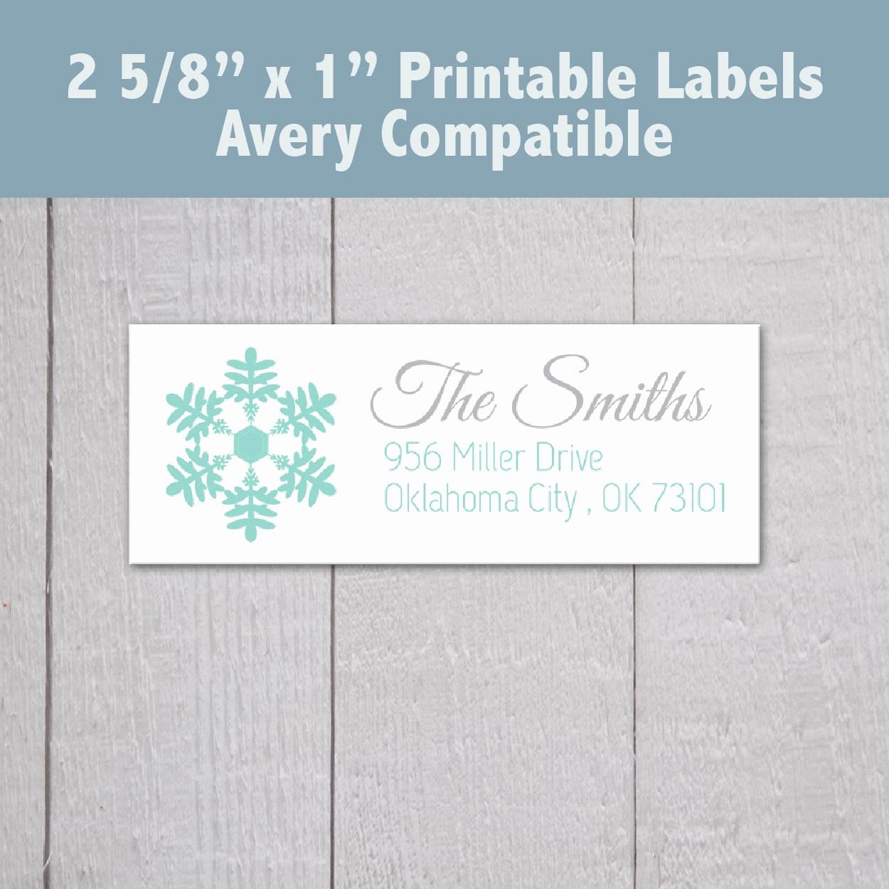 Printable Christmas Return Address Labels Inspirational Printable Christmas Address Labels Snowflake Address Labels