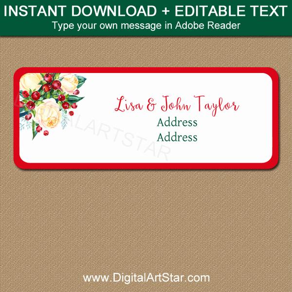Printable Christmas Return Address Labels Lovely Christmas Return Address Label Printable Labels