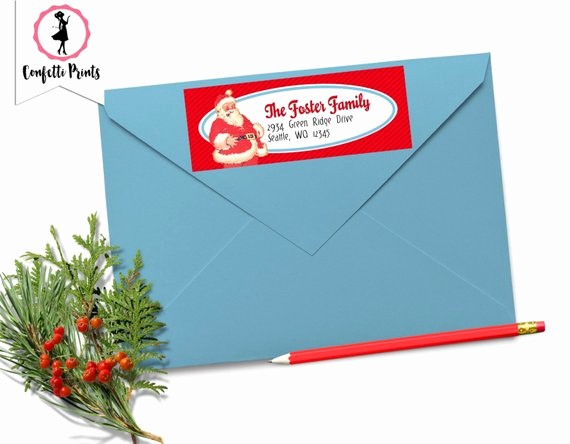 Printable Christmas Return Address Labels Luxury Christmas Return Address Label