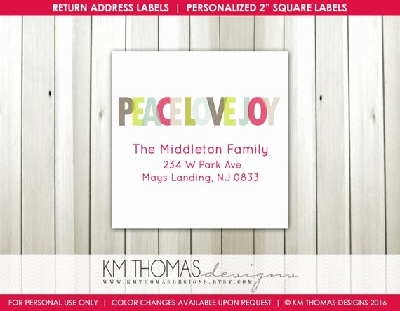 Printable Christmas Return Address Labels Luxury Printable Return Address Label Square Label Christmas