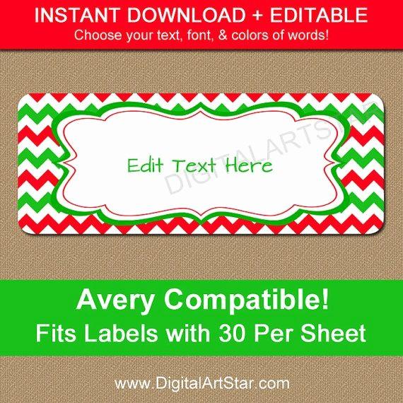 Printable Christmas Return Address Labels New 16 Best Return Address Labels Images On Pinterest