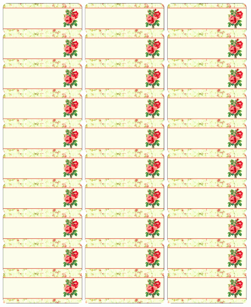 Printable Christmas Return Address Labels New Free Vintage Rose Label Printables by Rachel Birdsell