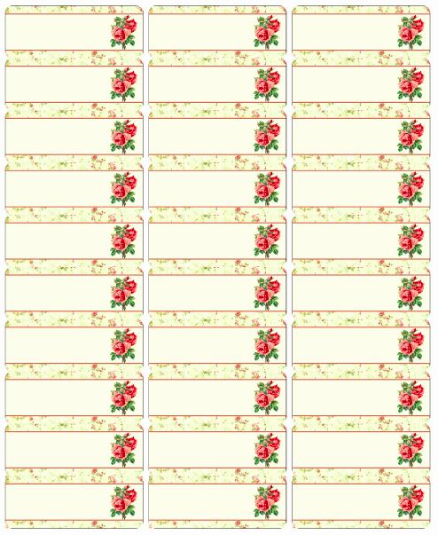 Printable Christmas Return Address Labels New Free Vintage Rose Label Printables by Rachel Birdsell