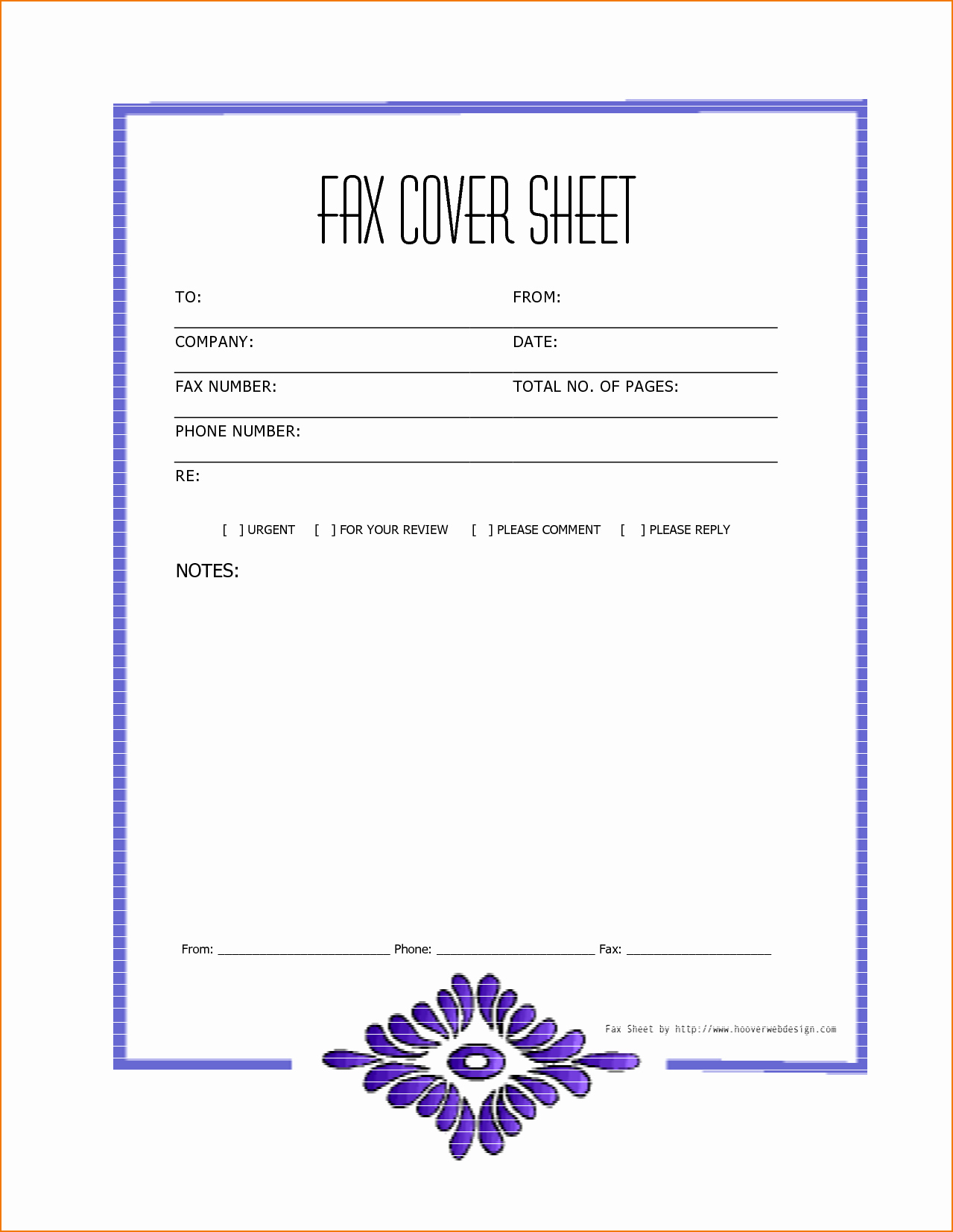 Printable Cover Sheet for Fax Lovely 7 Free Printable Fax Cover Sheet