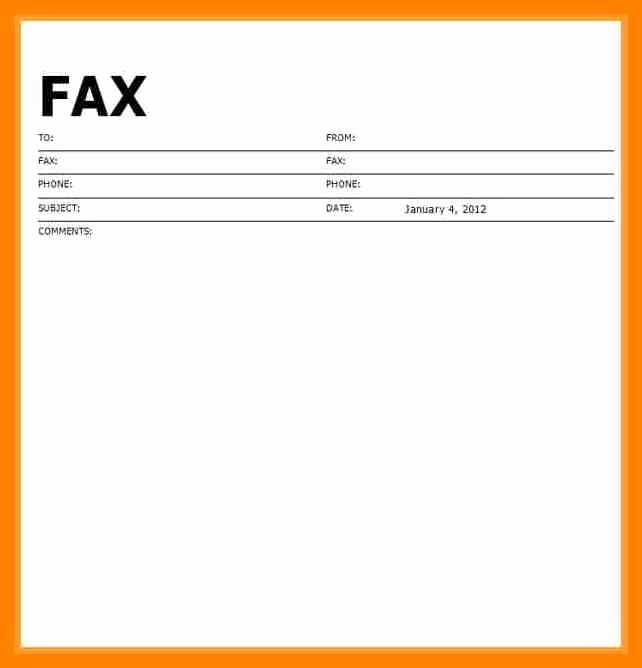 Printable Cover Sheet for Fax Lovely 9 Free Printable Fax Cover Sheet Template