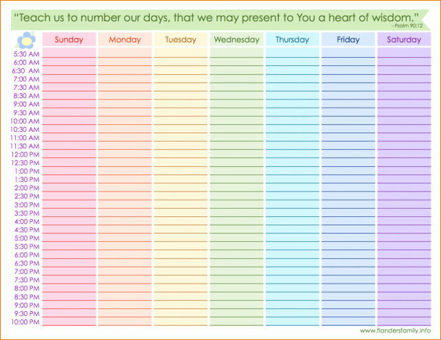 Printable Daily Calendar by Hour Best Of 4 Printable Weekly Calendar with Hours