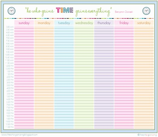 Printable Daily Calendar by Hour Fresh Printable Daily Schedule