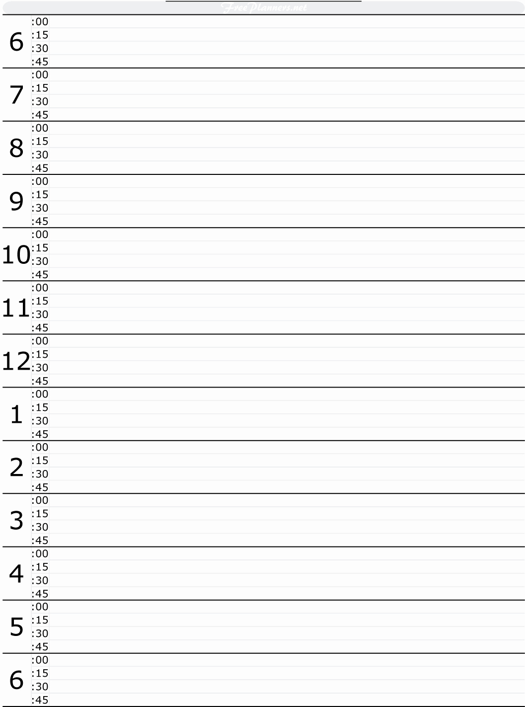 Printable Daily Calendar by Hour Lovely Free Printable Hourly Daily Planner