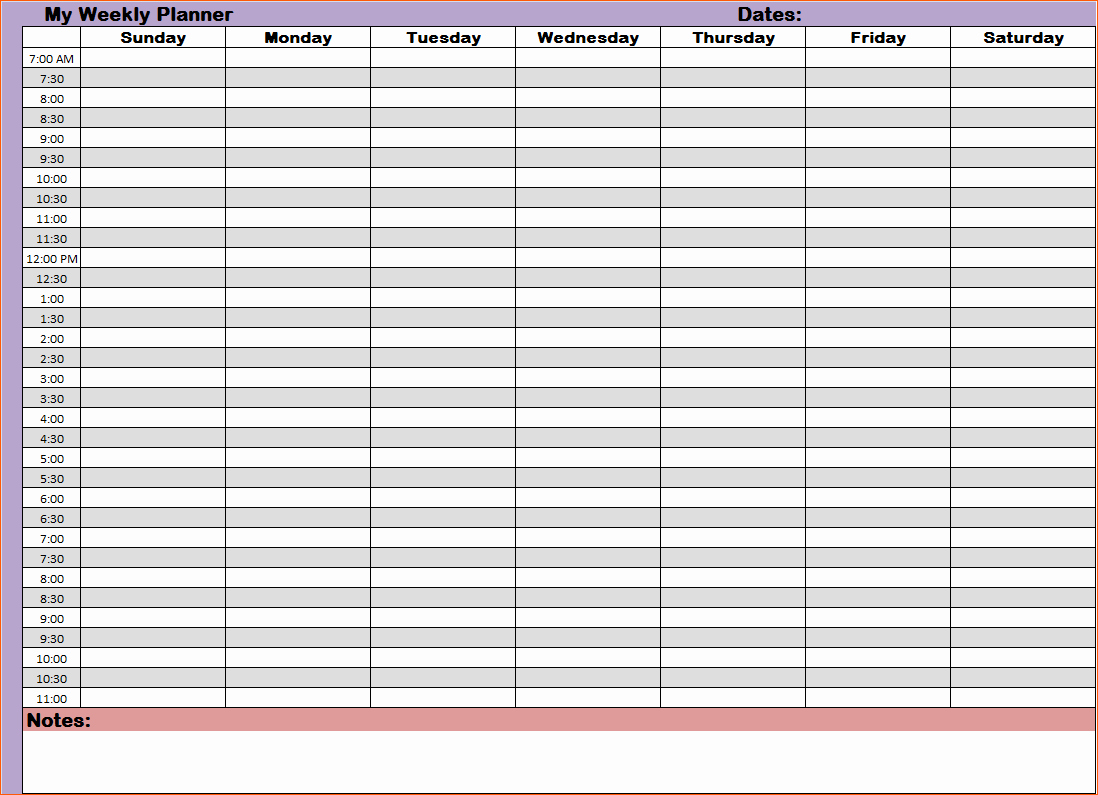 Printable Daily Calendar by Hour Luxury 9 Hourly Planners