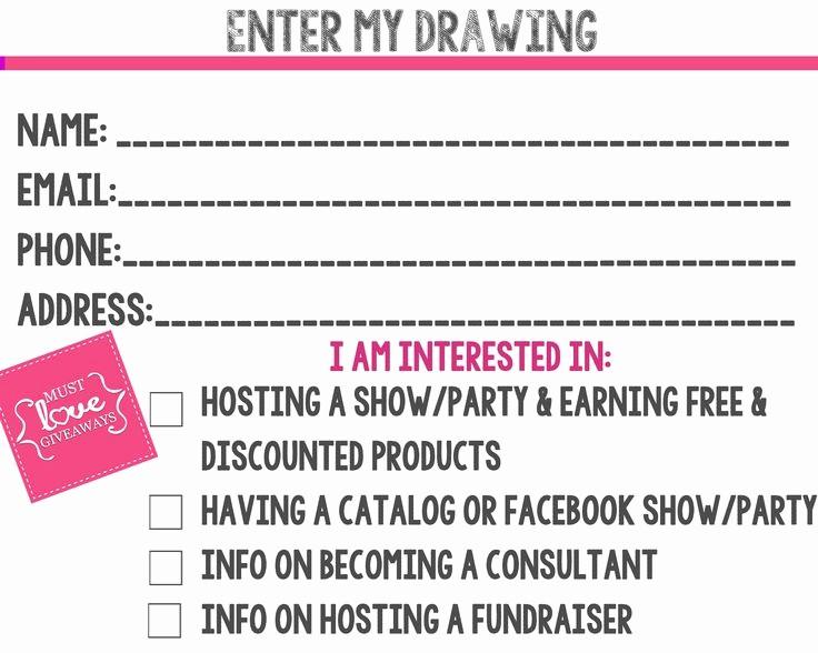 Printable Door Prize Drawing Slips Beautiful 3 Best Of Printable Prize Drawing Slips Door