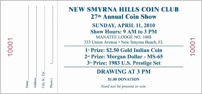 Printable Door Prize Drawing Slips Best Of Prize Ticket Template Drawing Free – Freewarearenafo