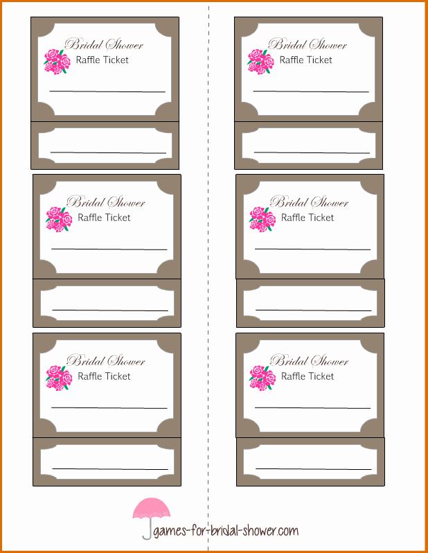 Printable Door Prize Drawing Slips Elegant 6 Raffle Tickets Template