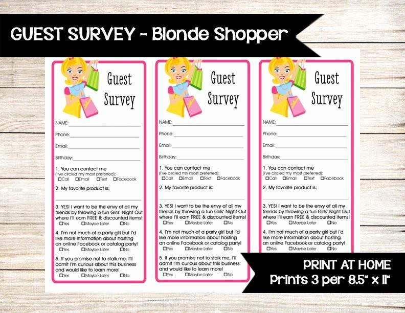 Printable Door Prize Drawing Slips Fresh Guest Survey Door Prize Raffle Ticket Drawing Slip