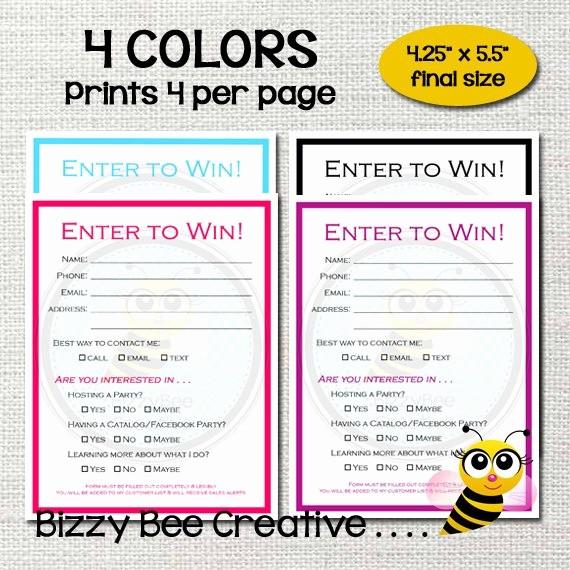 Printable Door Prize Drawing Slips Unique Enter to Win Raffle Ticket Drawing Slip Door Prize form