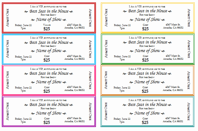 Printable event Tickets Template Free Awesome 12 Free event Ticket Templates for Word Make Your Own