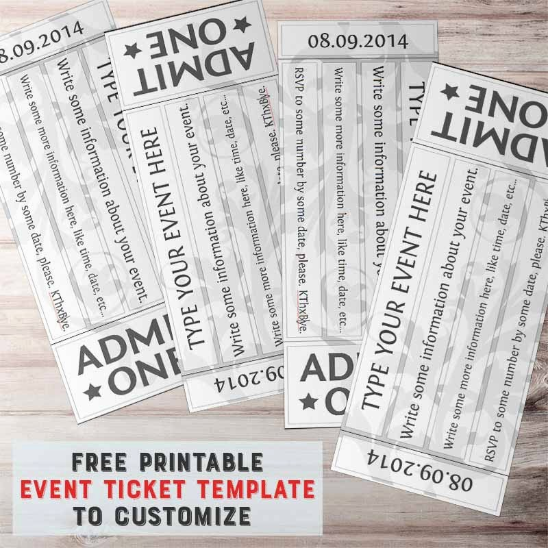 Printable event Tickets Template Free Awesome Free Printable event Ticket Template to Customize