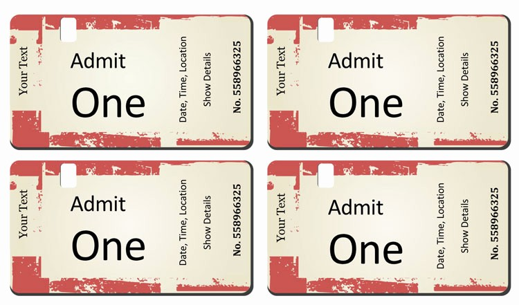Printable event Tickets Template Free Beautiful 12 Free event Ticket Templates for Word Make Your Own