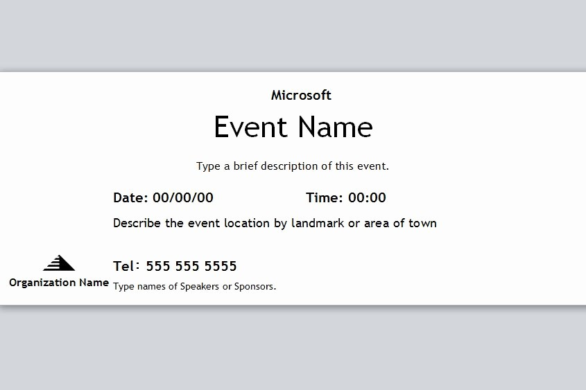 Printable event Tickets Template Free Lovely event Ticket Template