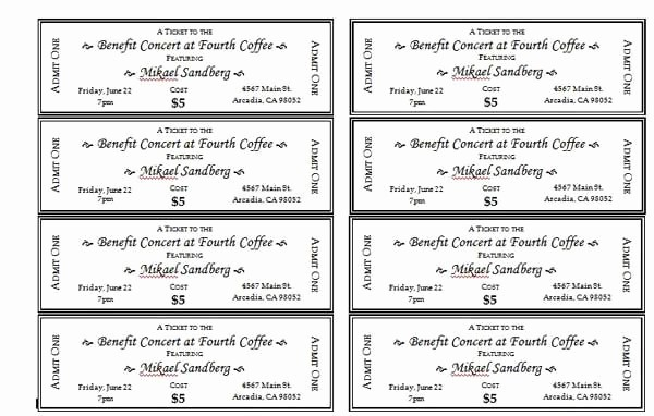 Printable event Tickets Template Free Lovely event Ticket Templates 1 …