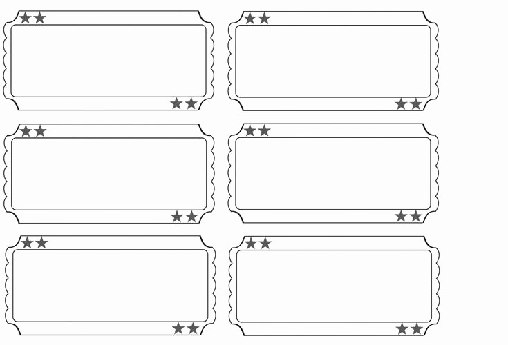 Printable event Tickets Template Free Lovely Printable Raffle Tickets Blank Kids Google Search