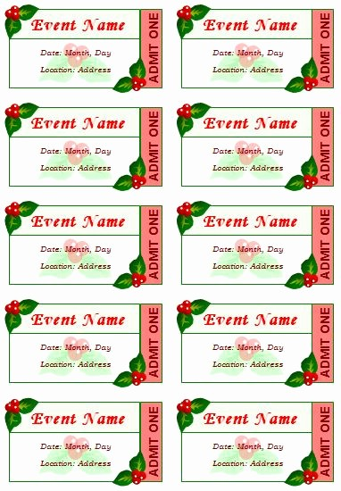Printable event Tickets Template Free Luxury Best 25 Ticket Template Ideas On Pinterest