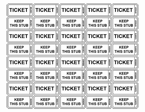 Printable event Tickets Template Free New Best 25 Ticket Template Ideas On Pinterest
