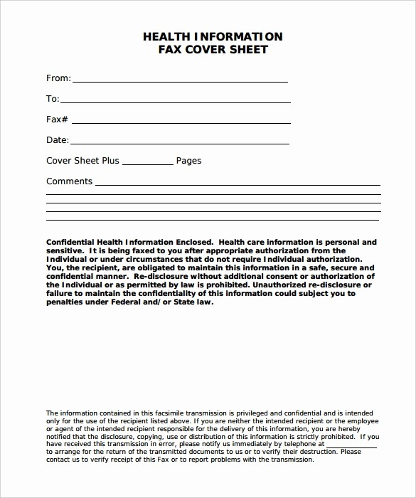Printable Fax Cover Sheet Confidential Awesome 8 Confidential Fax Cover Sheet Word Pdf