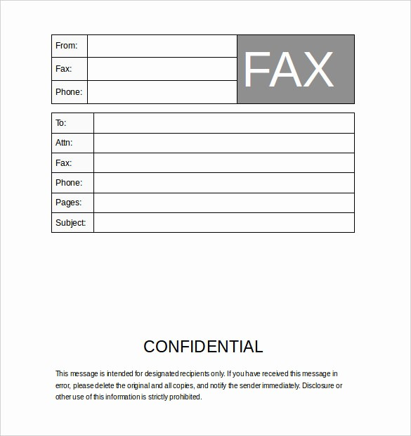 Printable Fax Cover Sheet Confidential Awesome Business Fax Cover Sheet – 10 Free Word Pdf Documents