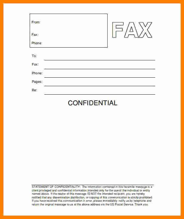 Printable Fax Cover Sheet Confidential Beautiful 10 Printable Professional Fax Cover Sheet