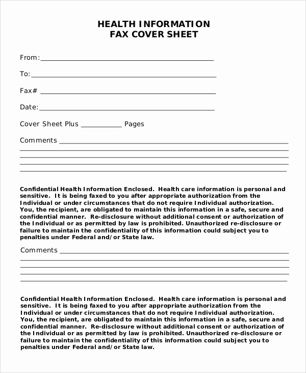 Printable Fax Cover Sheet Confidential Elegant 7 Sample Confidential Fax Cover Sheets