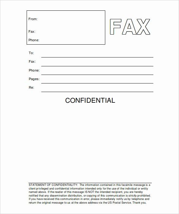Printable Fax Cover Sheet Confidential Elegant 8 Confidential Fax Cover Sheet Word Pdf