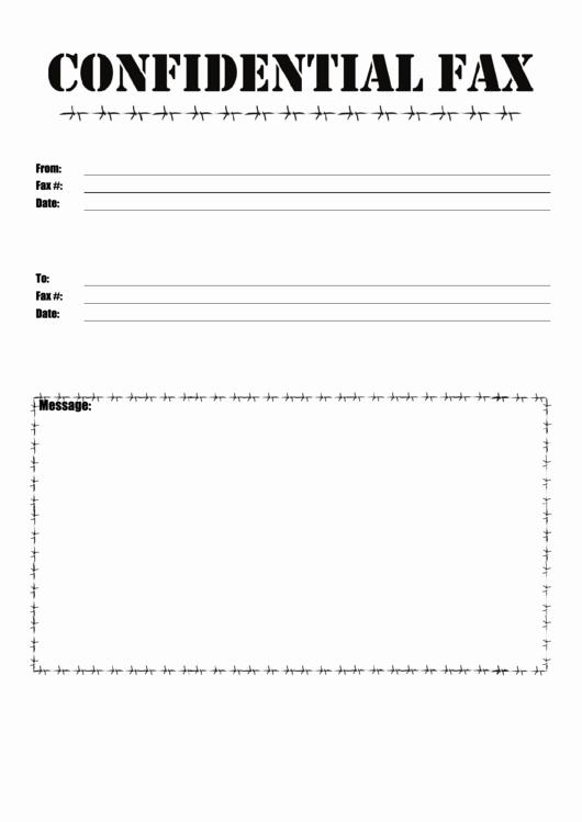 Printable Fax Cover Sheet Confidential Fresh top 9 Confidential Fax Cover Sheets Free to In