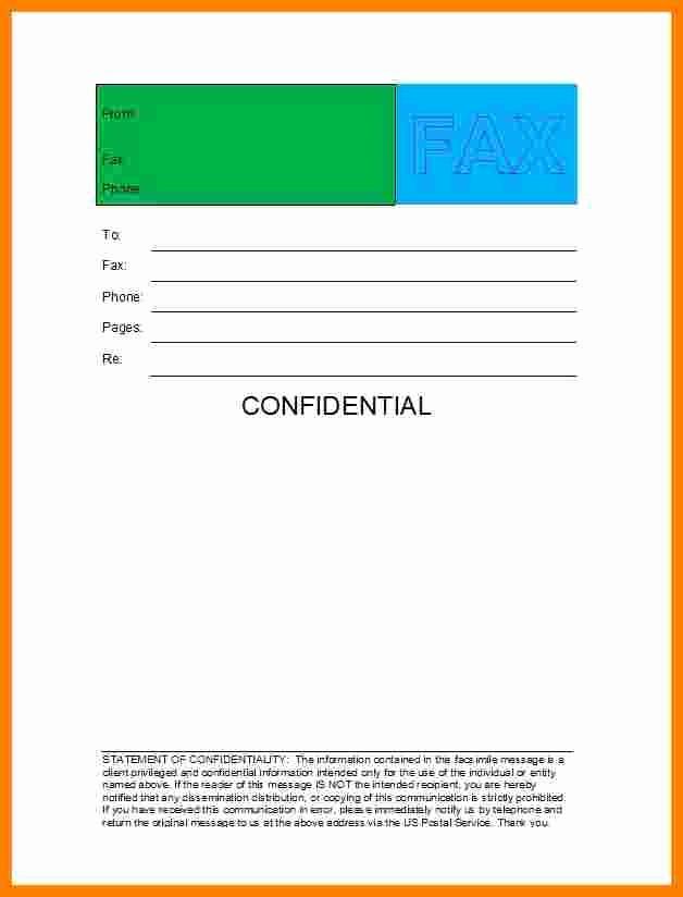 Printable Fax Cover Sheet Confidential Inspirational 7 Free Fax Cover Sheet Confidential