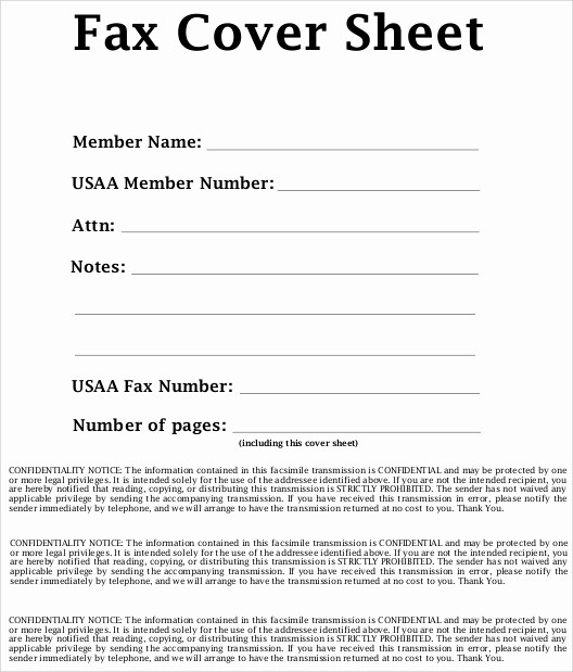 Printable Fax Cover Sheet Confidential Inspirational 7 Sample Confidential Fax Cover Sheets