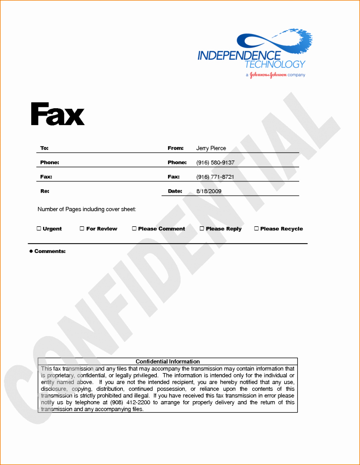 Printable Fax Cover Sheet Confidential Inspirational Fax Confidential Fax Cover Sheet
