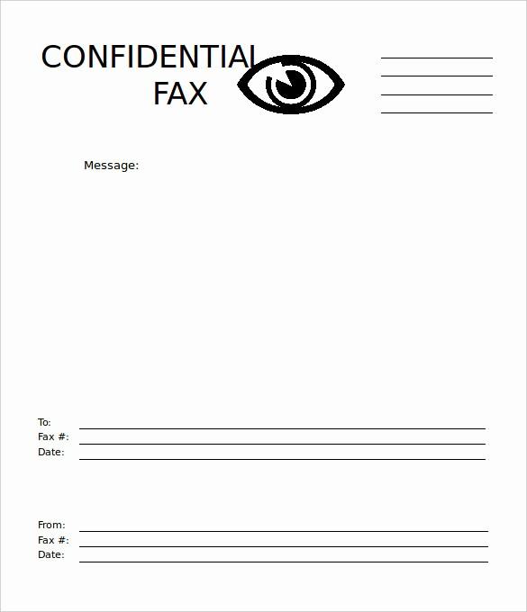 Printable Fax Cover Sheet Confidential Lovely 7 Basic Fax Cover Sheet Templates Free Sample Example