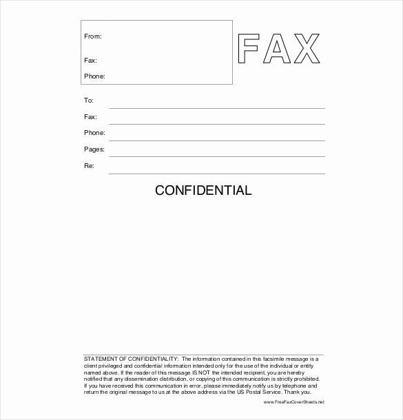 Printable Fax Cover Sheet Confidential Luxury 12 Confidential Cover Sheet Templates – Free Sample