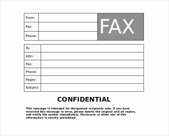 Printable Fax Cover Sheet Confidential New 9 Confidential Fax Cover Sheet Templates Doc Pdf