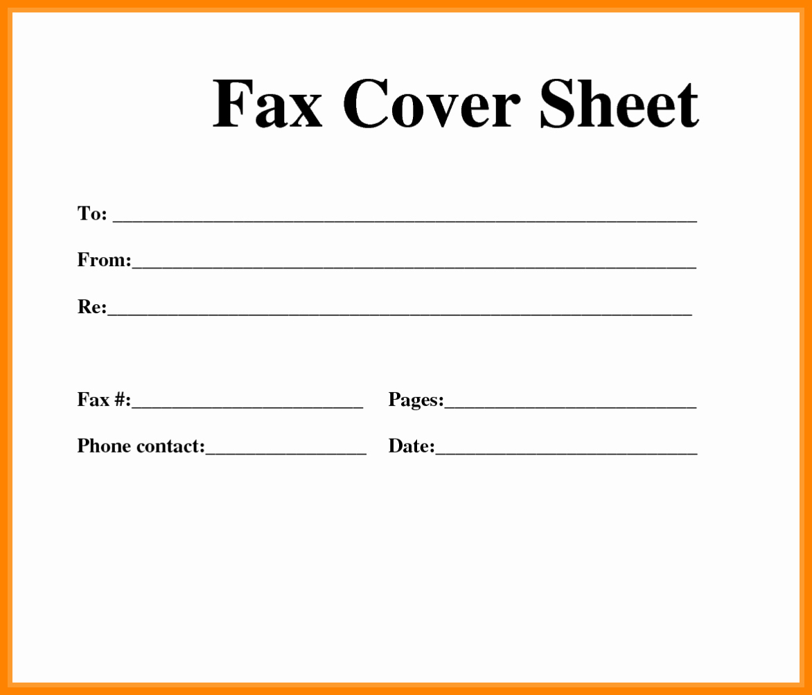 Printable Fax Cover Sheets Pdf Inspirational 5 Free Printable Fax Cover Sheets