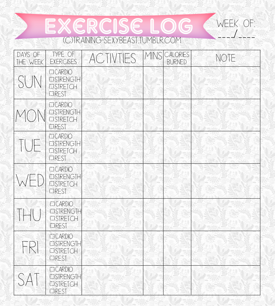 Printable Food and Exercise Journal Beautiful Printables Food Journal Fitness Journal Training Beast •