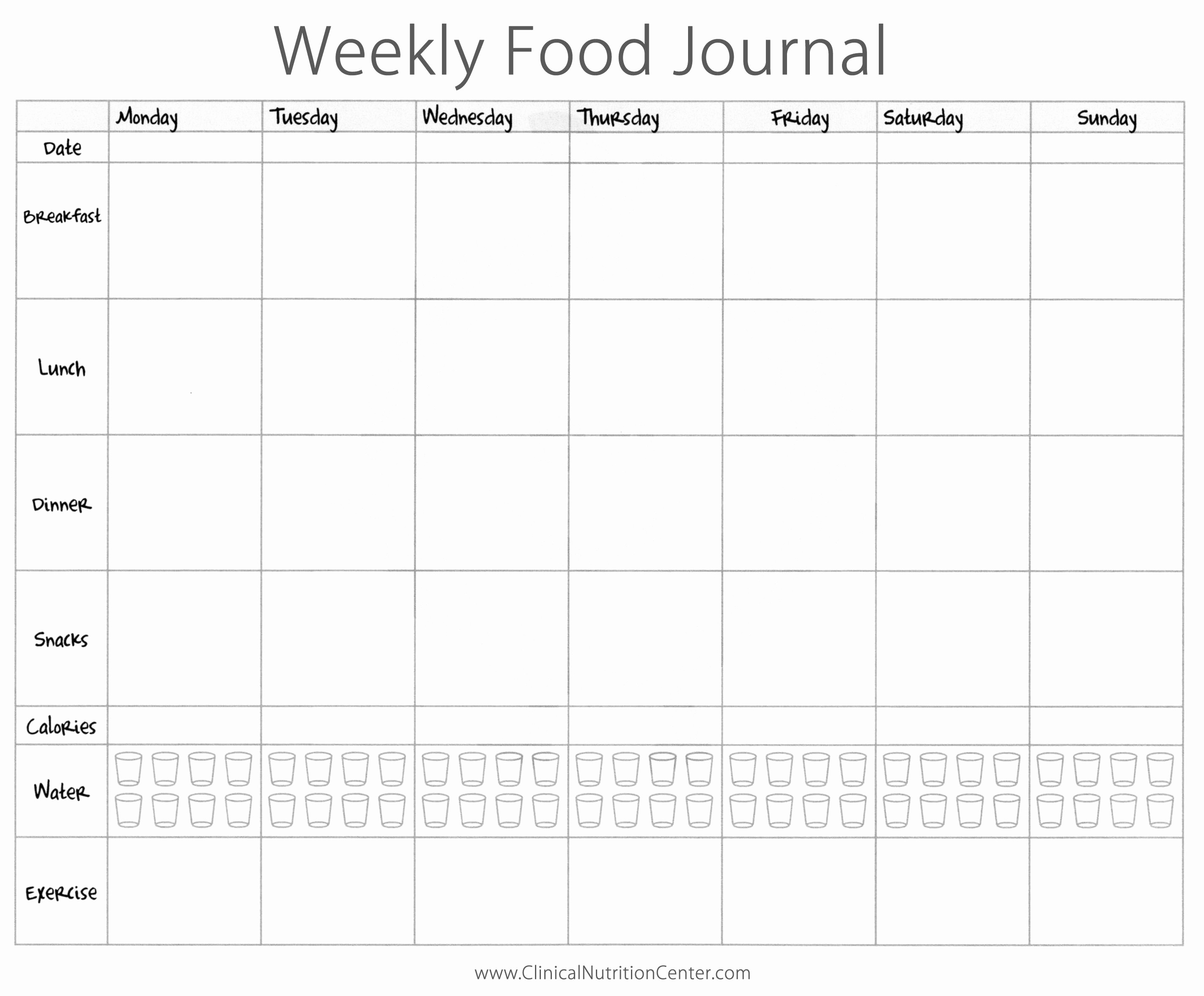 Printable Food and Exercise Journal Best Of Importance Of Keeping A Food Diary Free Printout Paula