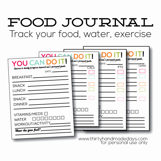 Printable Food and Exercise Journal Best Of Updated Printable Food Journal