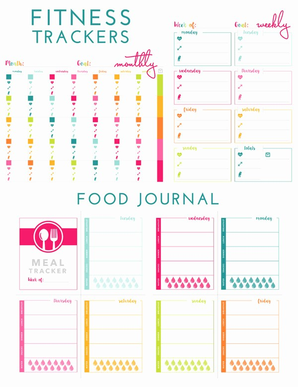 Printable Food and Exercise Journal Fresh Printable Fitness Trackers and Food Journal