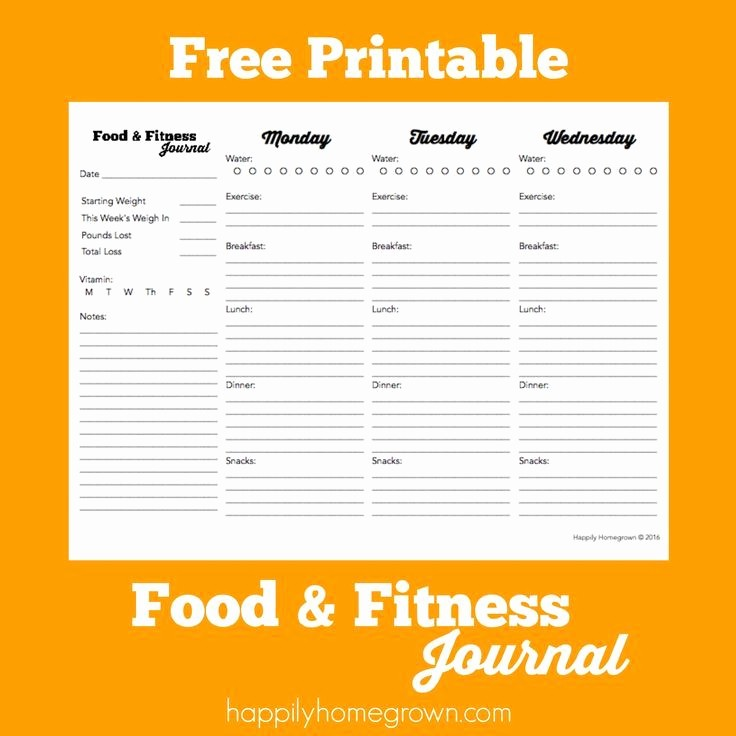 Printable Food and Exercise Journal Lovely 17 Best Images About Printables On Pinterest