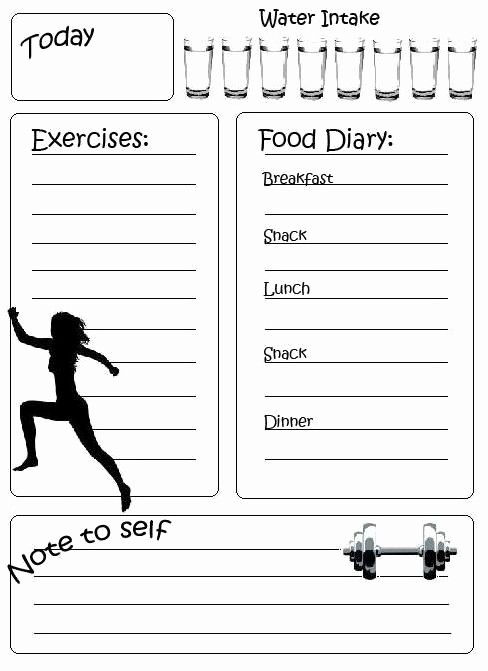 Printable Food and Exercise Journal Lovely Best 25 Fitness Diary Ideas On Pinterest