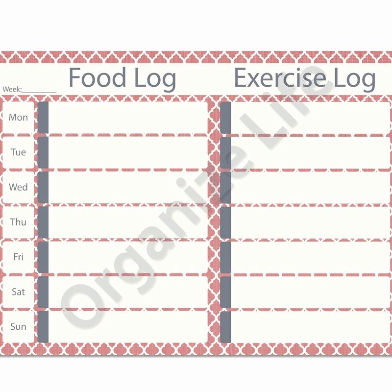 Printable Food and Exercise Journal Luxury Printable Workout Log