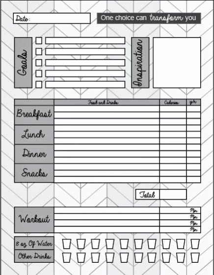 Printable Food and Exercise Journal New Free Printable Food Journal Help Your Weight Loss