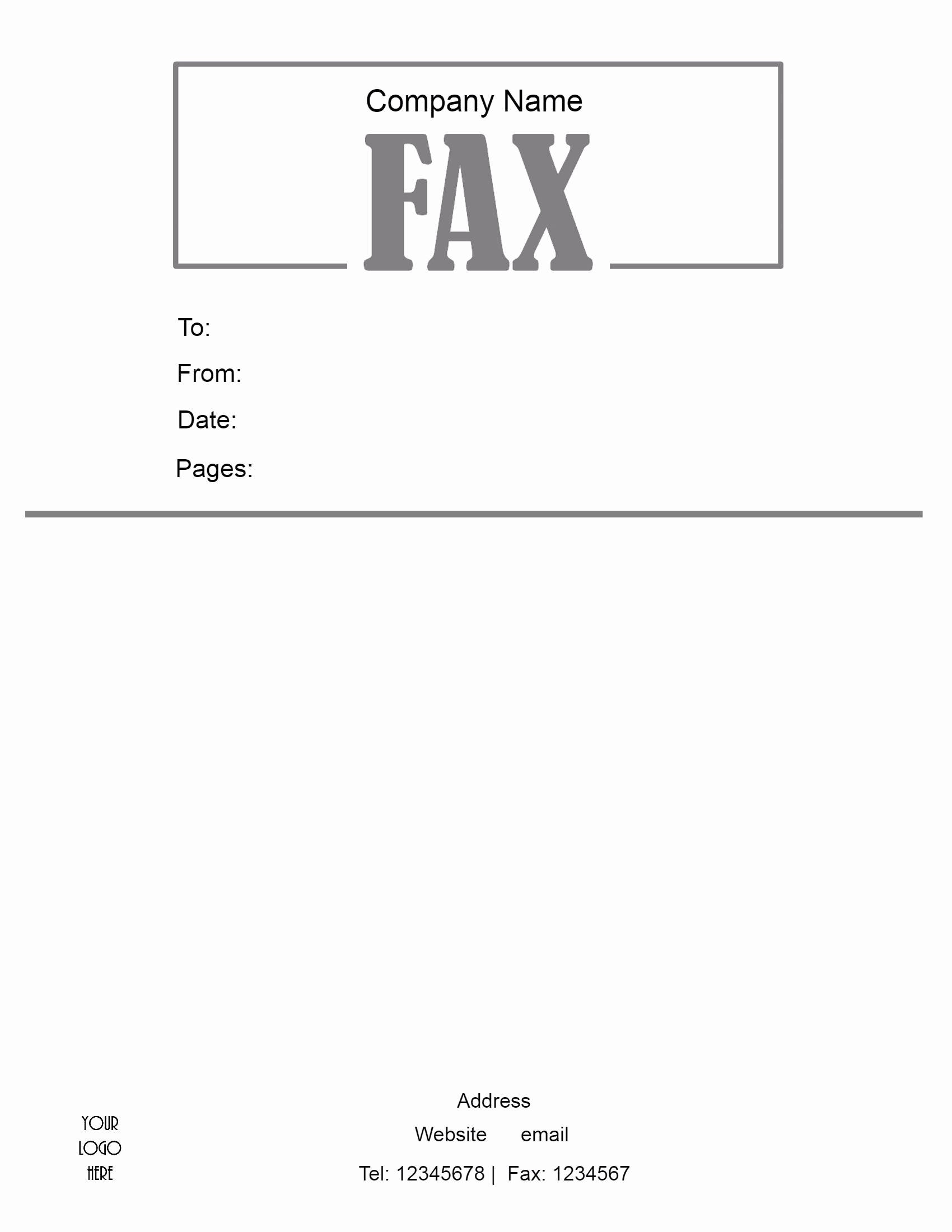 Printable Free Fax Cover Sheet Fresh Free Fax Cover Sheet Template format Example Pdf Printable